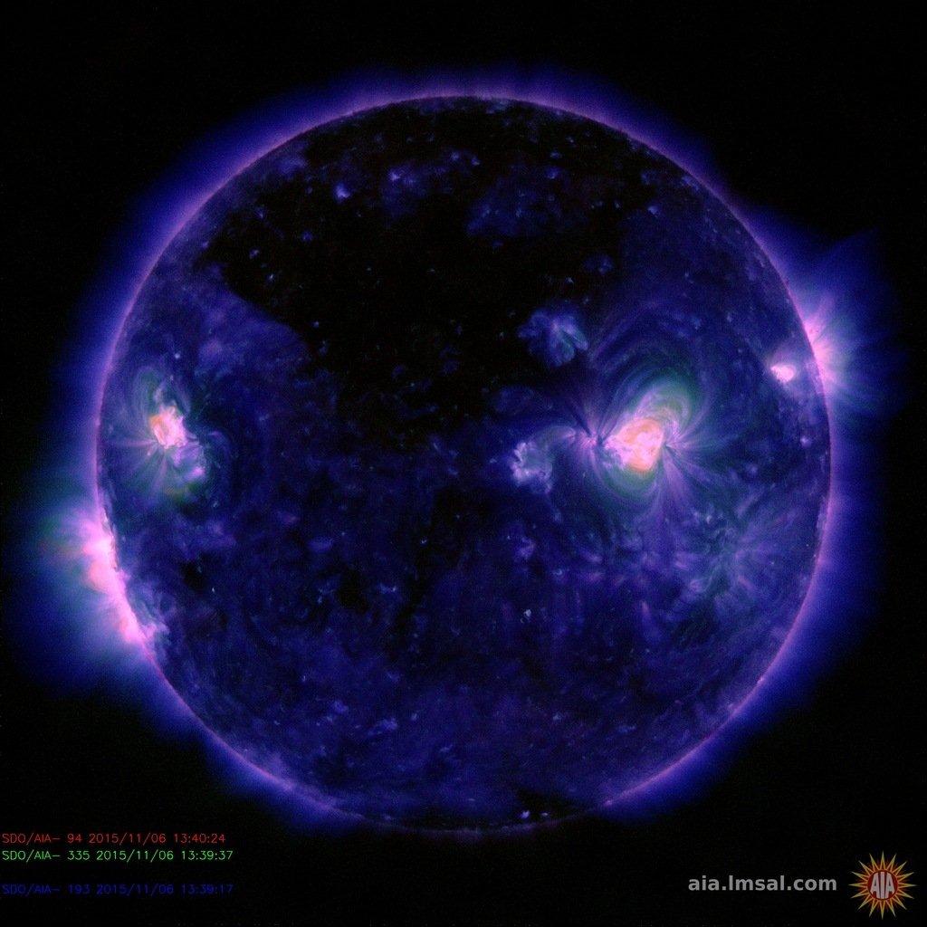 Ein weiteres Bild der Sonne, aufgenommen am 6. November 2015.