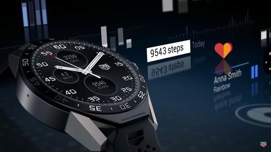Das ist ein Computer: TAG Heuer hat als erster Hersteller von Luxusuhren eine Smartwatch hergestellt. Sie läuft unter Android – und kann sogar ganz normal die Uhrzeit anzeigen.