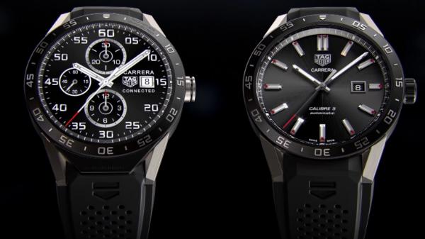 Klickt man klassische Watchfaces an, sieht die TAG Heuer Connected aus wie eine analoge Uhr.