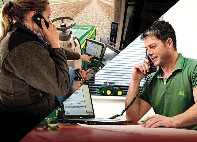 Der moderne Landwirt hat vom Büro aus alles im Blick. John Deere bietet zum Beispiel eine Software namens JDLink an, die es ermöglichen soll, alle Maschinen im Einsatz zu überwachen.