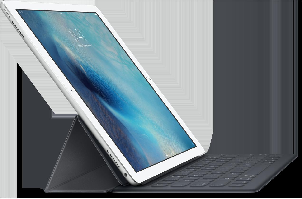 Mit einer Bildschirmdiagonale von satten 12,9 Zoll bietet das iPad Pro deutlich mehr Platz für Anwendungen als der Vorgänger iPad Air 2 (9,7 Zoll). Auch die Auflösung istmit 2732 x 2018 Bildpunkten ausgezeichnet.