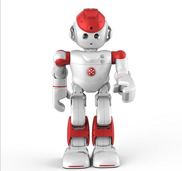 Humanoider Roboter Alpha 2: Größenmäßig noch nicht einmal eine halbe Portion ist er als nahezu vollwertiges Familienmitglied konzipiert.