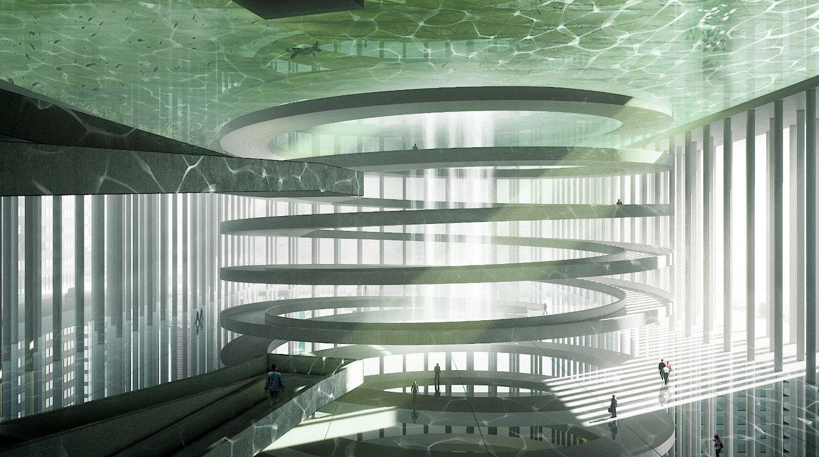 Essence Skyscraper: Im Innern eines Wolkenkratzers sollen nach Plänen des polnischen Architektenbüros Bomp elf verschiedene natürliche Landschaften entstehen.