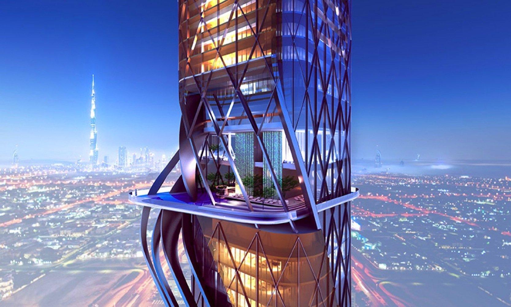 280 Luxus-Appartements mit unglaublicher Aussicht wird einer der beidenRosemont Tower aufnehmen. Im zweiten Turm wird Hilton ein Luxushotel einrichten.