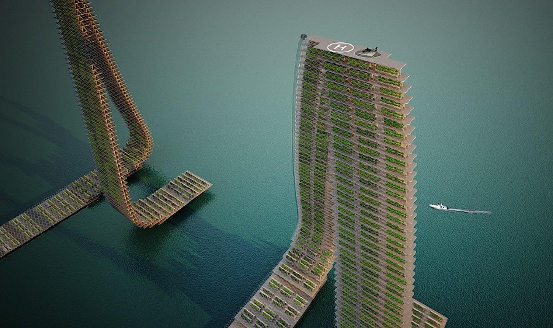 Hochhäuser des ArchitekturbürosForward Thinking Architecture: Sie sind so geformt, dass jede Etage optimal mit Sonnenlicht versorgt wird.