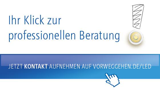 Jetzt Kontakt aufnehmen auf vorweggehen.de/LED