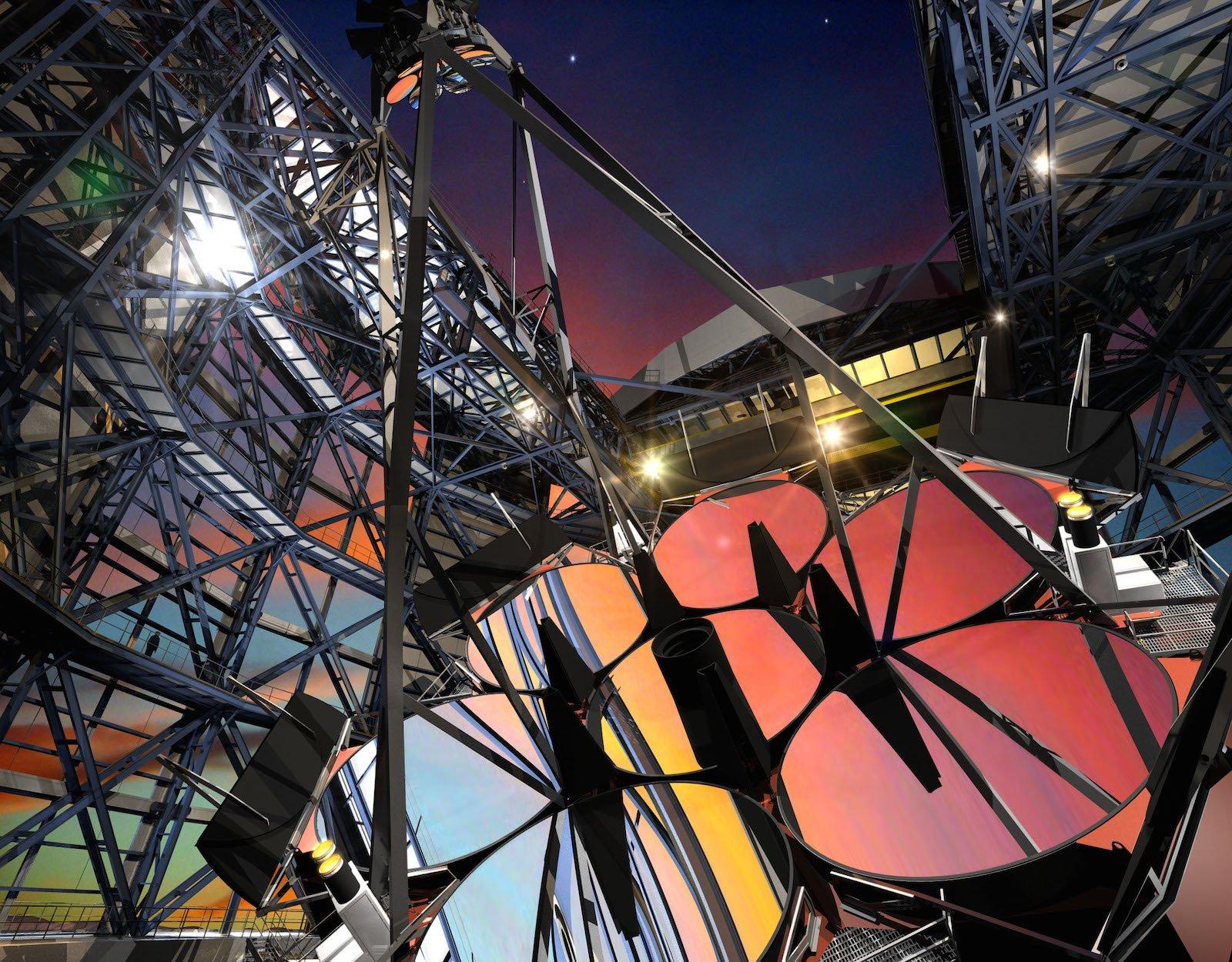 Die Gesamtspiegelfläche des GMT hat einen Durchmesser von 25 m. Damit wird das GMT das größte Spiegelteleskop der Welt.
