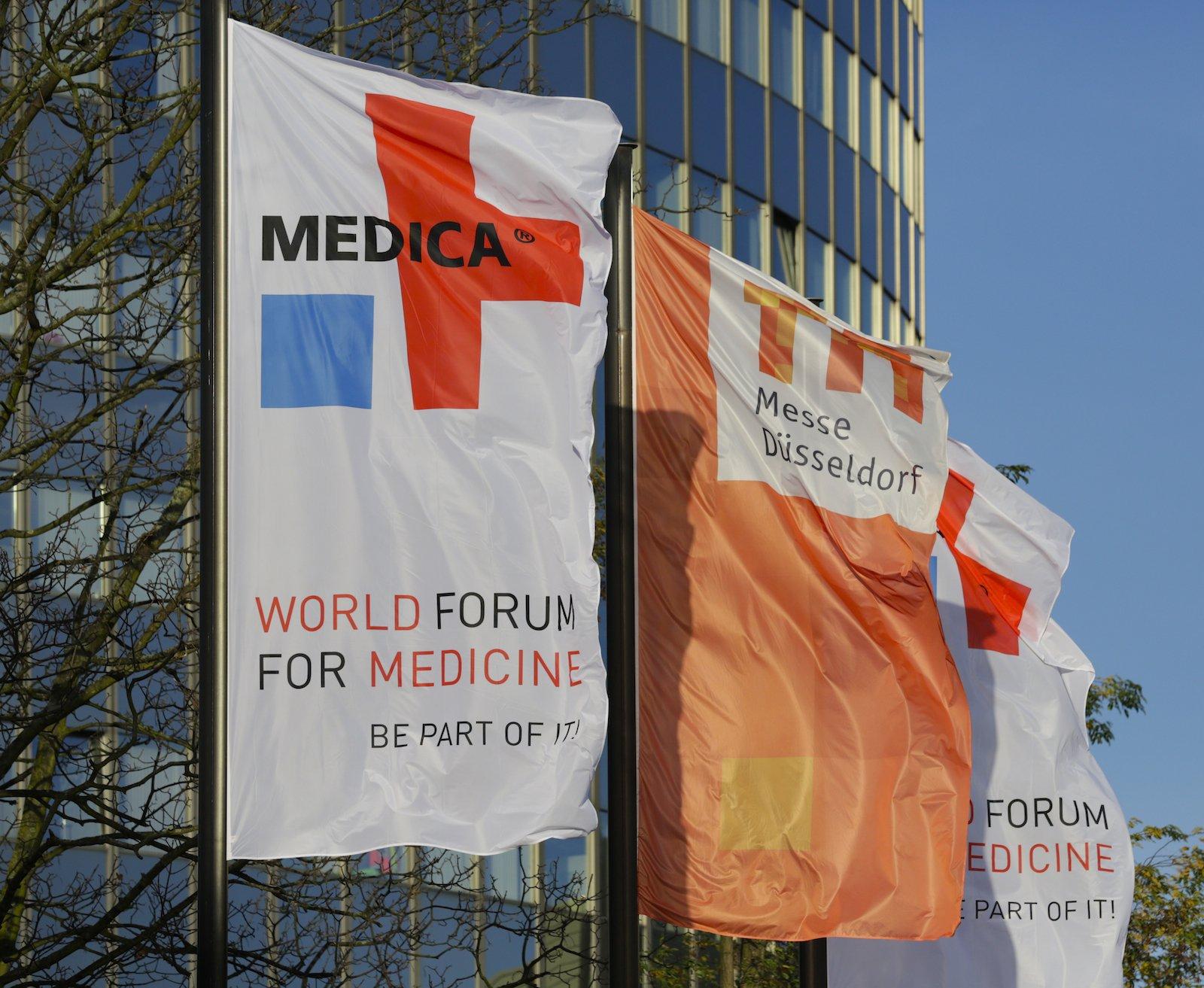 Auf der Medica präsentieren 4952 Aussteller aus 70 Nationen ihre Innovationen und Weiterentwicklungen auf einer Ausstellungsfläche von rund 116.000 m2.