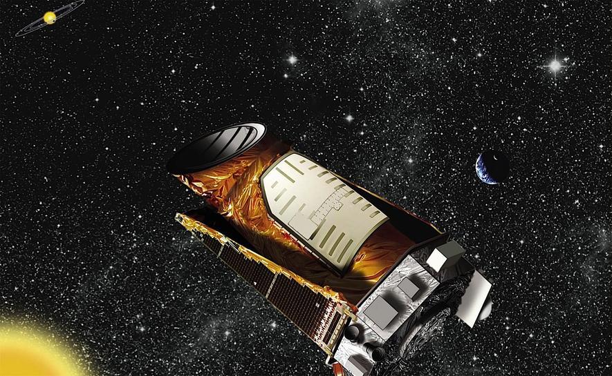 Illustration des US-Weltraumteleskops Kepler.