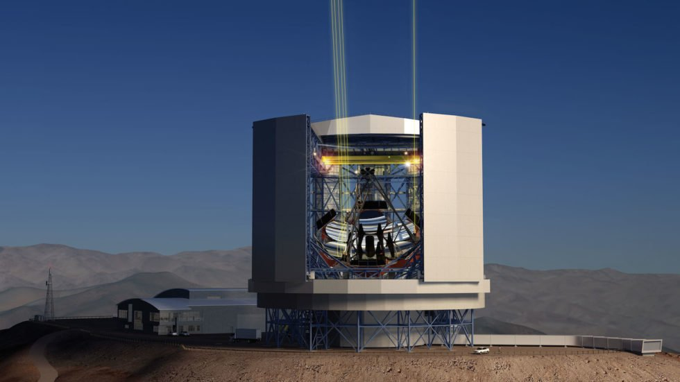 Giant Magellan Telescope (GMT):Sieben riesigen Spiegel sollen das schwache Licht vom Rande des Universums auffangen. Foto: gmto.org