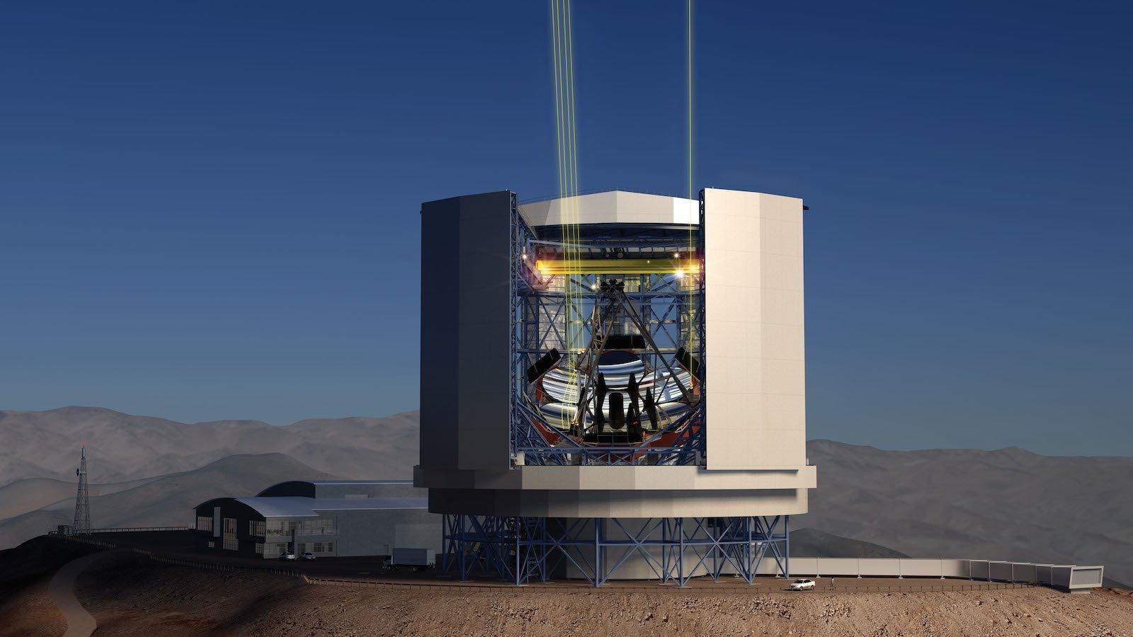 Giant Magellan Telescope (GMT):Sieben riesigen Spiegel sollen das schwache Licht vom Rande des Universums auffangen.