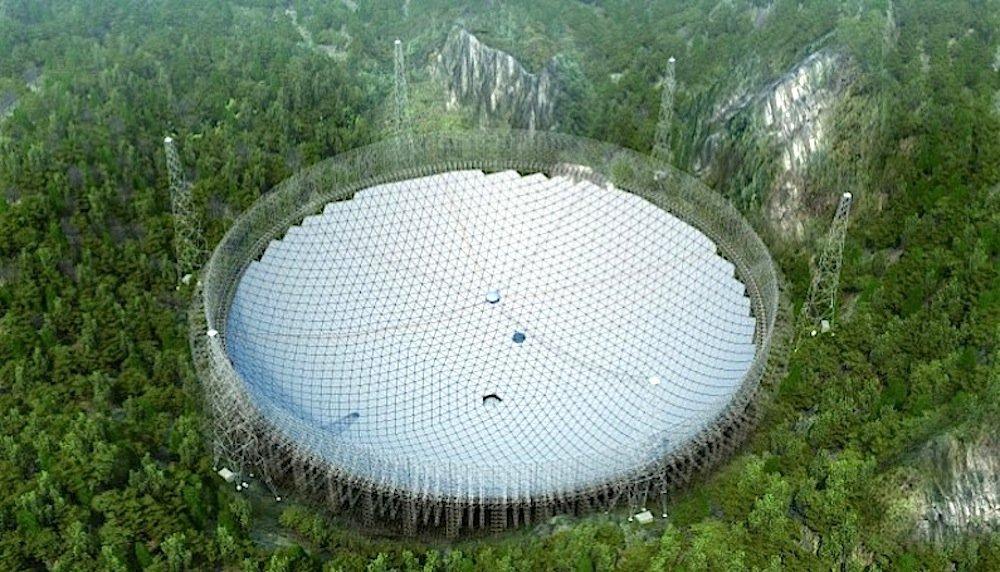 3D-Modell des chinesischen Radioteleskops FAST.