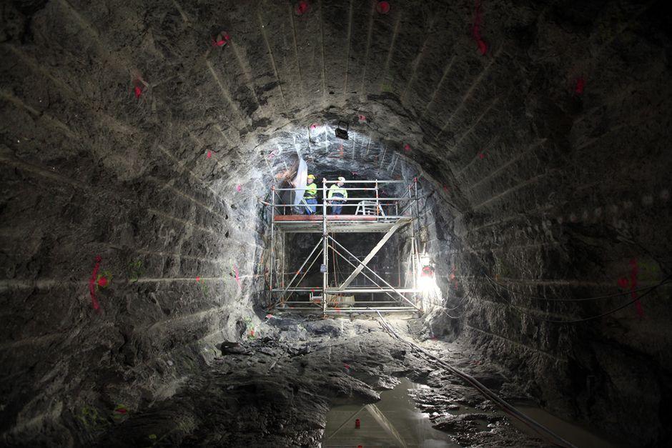 Forschungsnische im Endlager Onkalo: Die Finnen forschen hier bereits seit Jahren und prüfen die Eignung des Standortes als Endlager für hochradioaktiven Atommüll.