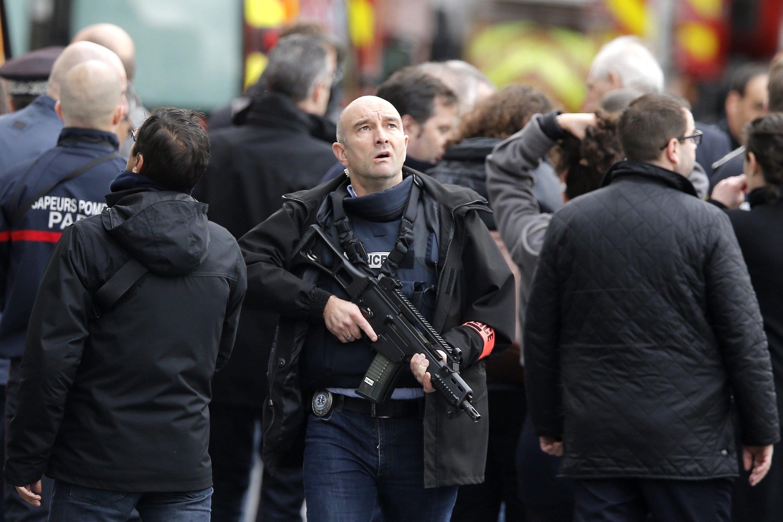 Anti-Terroreinsatz in Saint Denis nahe Paris am heutigen Mittwoch.