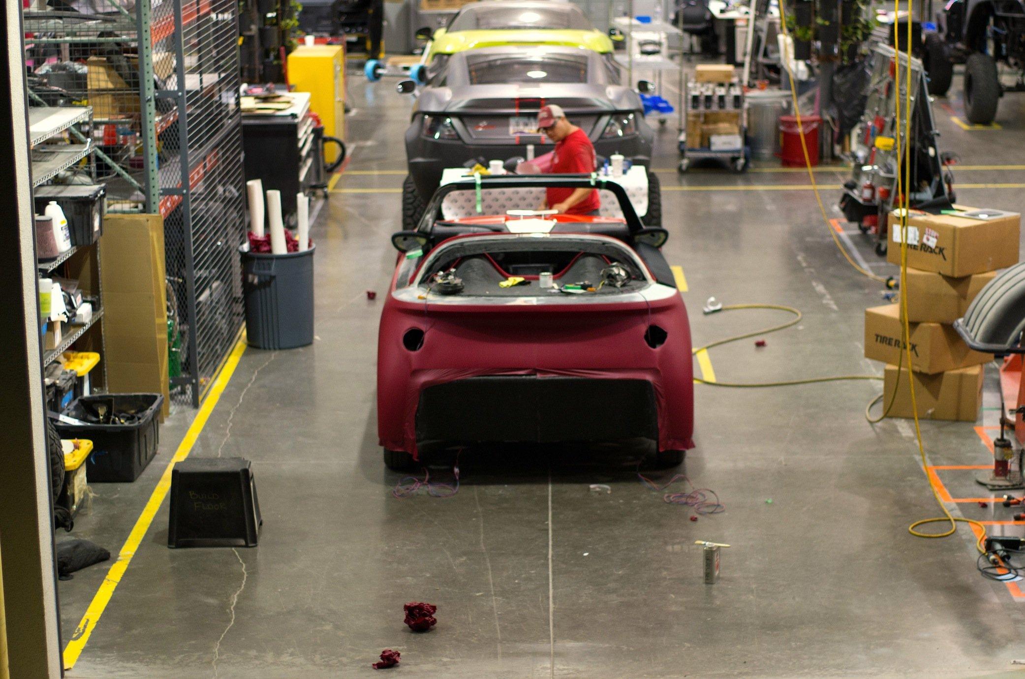 Die Produktion bei Local Motors in Phoenix: DerLM3D Swim soll ab 2017 in Serie produziert werden.