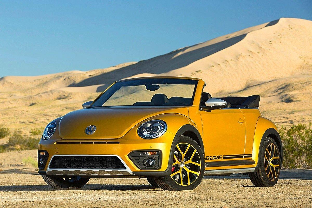 Cabrio-Version des VW Beetle Dune: Auch ohne Dach sieht der Dune klasse aus.