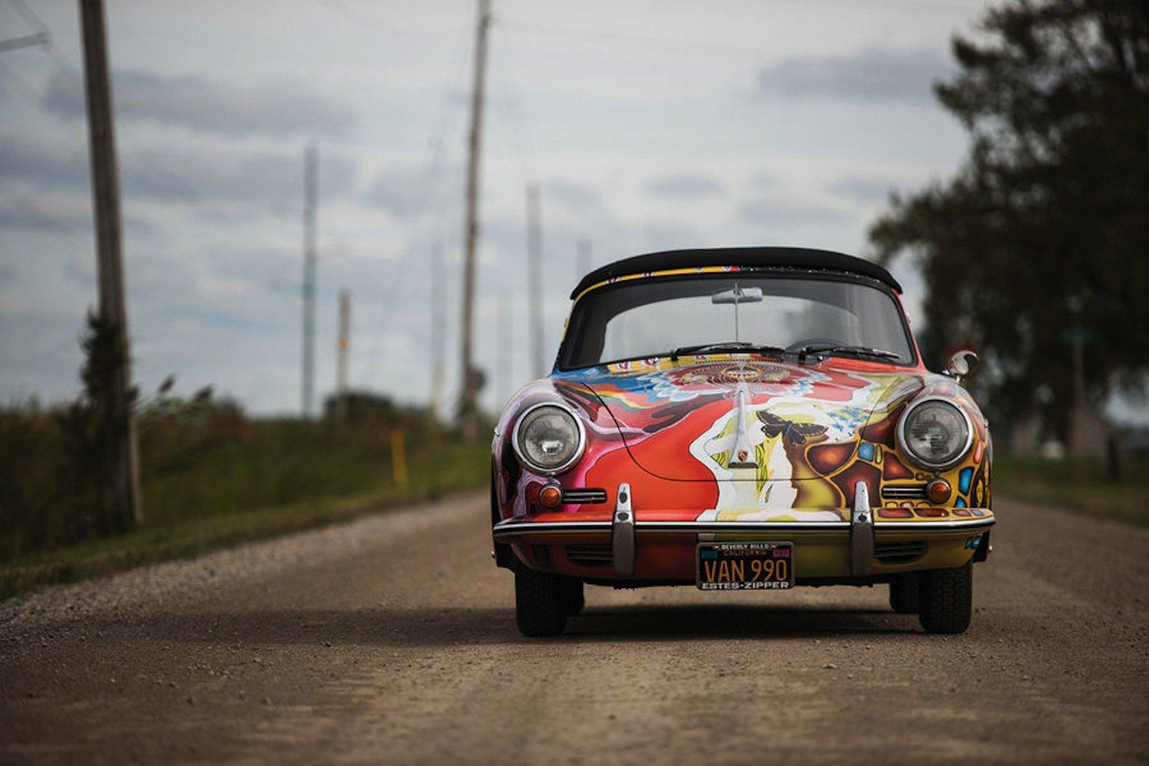 Das Porsche 356 Cabrio von Janis Joplin – bemalt im Hippie-Stil der 1960-er Jahre – kommt bei Sothebys unter den Hammer.
