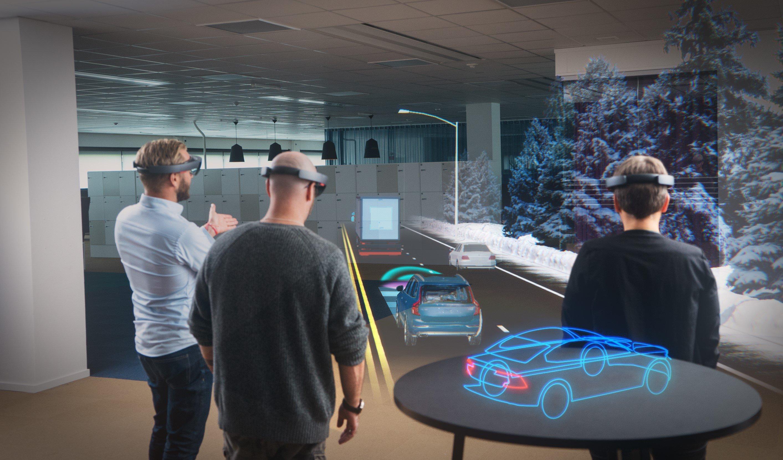 Microsoft und Volvo arbeiten an der virtuellen Darstellung von Autos im Autohaus. Der Kunden soll sich sein Auto nach Wunsch anzeigen lassen.