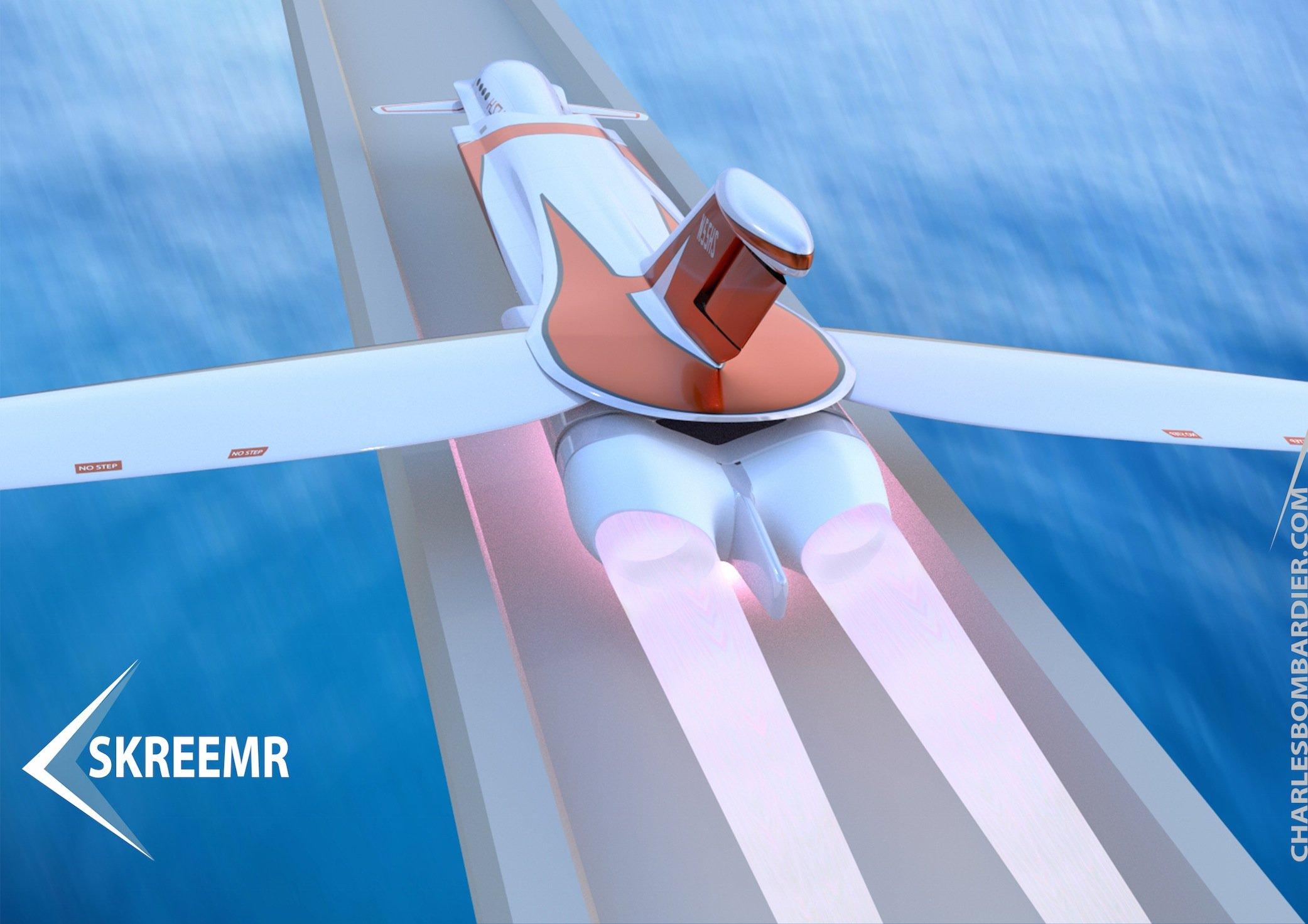 Die zweiScramjet-Triebwerke sollen das Flugzeug mit 75 Passagieren auf zehnfache Schallgeschwindigkeit beschleunigen.