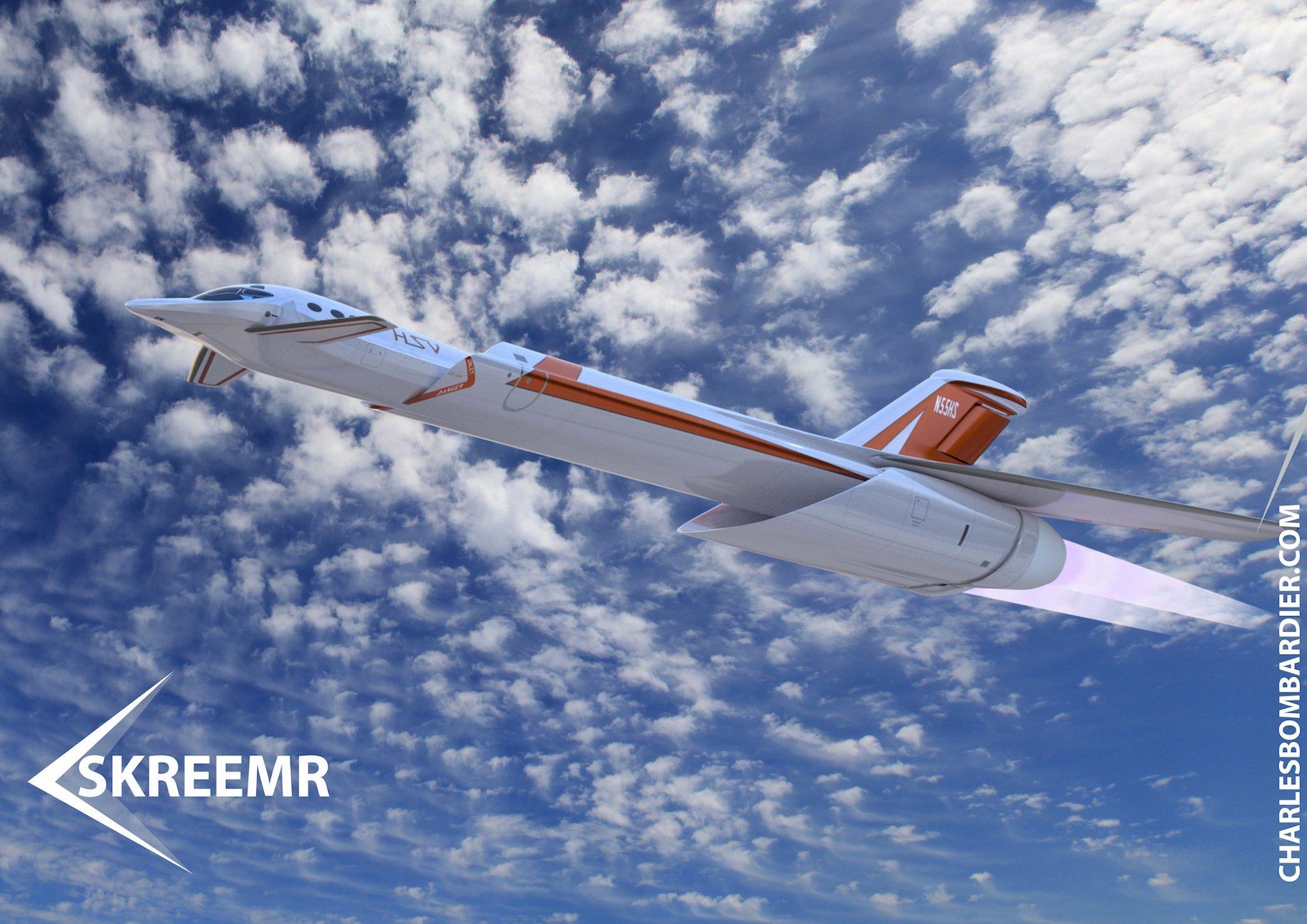 Das Überschallflugzeug Skreemr benötigt unglaublich viel Umgebungsluft, die in den Scramjet-Triebwerken stark verdichtet und ausgestoßen wird.