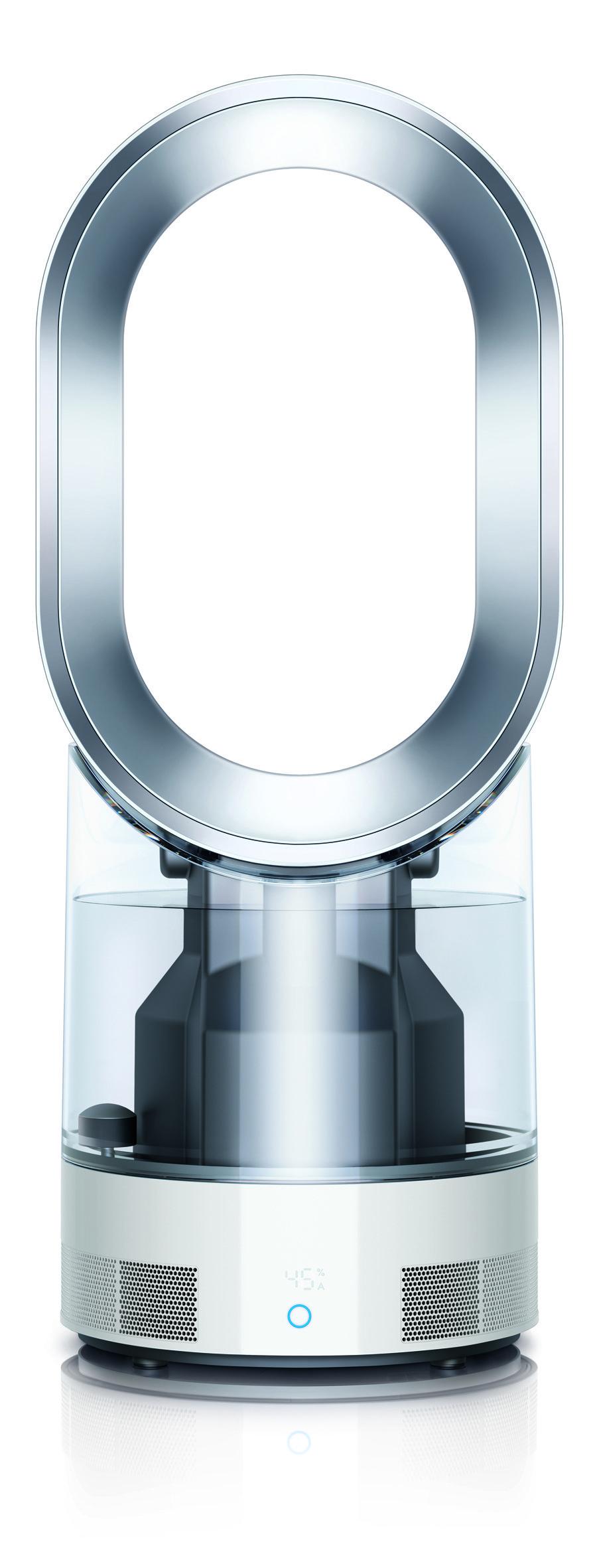 """Die von Dyson patentierte """"Ultraviolet Cleanse Technologie"""" reinigt das Wasser im Wassertank des Luftbefeuchters. Durch die Bestrahlung mit UV-C Licht sterben 99,9% der darin enthaltenen Bakterien ab."""