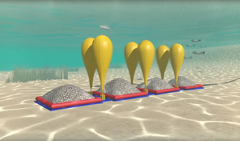 Hydrostor nutzt Ballons, die auch für die Bergung gesunkener Schiffe zum Einsatz kommen. Sie sind dank einer Nylonhaut besonders robust.