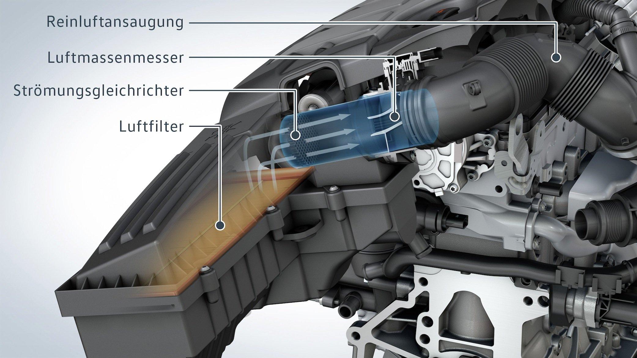 DerStrömungsgleichrichter soll die Verbrennung im Dieselmotor optimieren und damit die Stickoxid-Emissionen reduzieren.