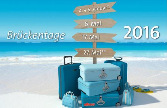 Es lohnt sich, den Urlaub 2016 frühzeitig zu planen. Denn wer Feier- und Brückentage geschickt nutzt, kommt leicht auf einen Extra-Urlaub.