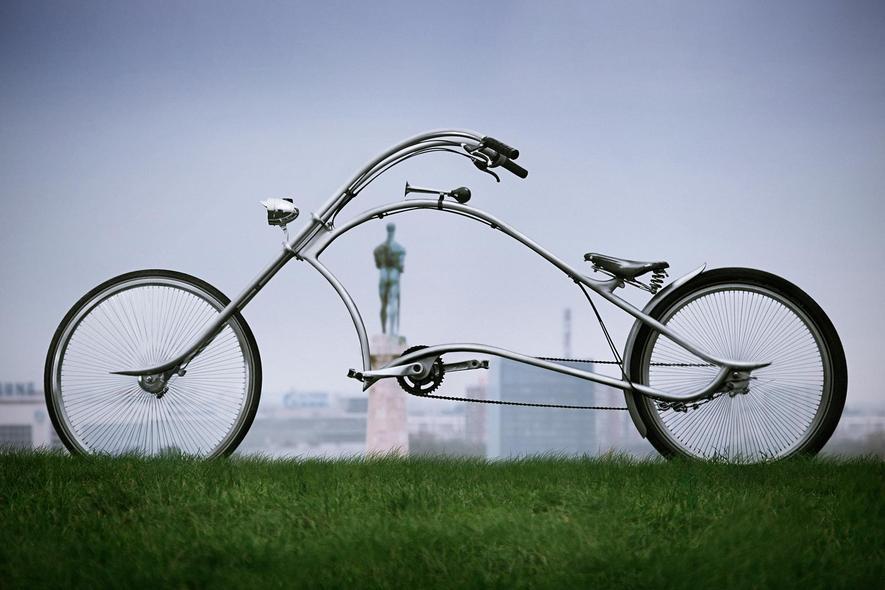 Bei diesem drei Meter langen und edlen Fahrrad guckt jeder hin