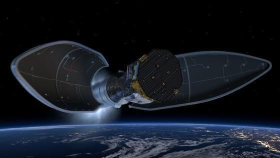 Die Sonde Lisa Pathfinder fliegt 1,5 Millionen km Richtung Sonne. Am Zielpunkt beginnt sie 2016 mit Messungen, um Gravitationswellen zu beweisen.