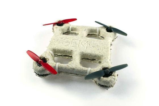 Diese Bio-Drohne löst sich nach einem Absturz auf: Denn das Chassis besteht aus einem Pilzmaterial. Nur für die Propeller müssen sich die Ingenieure noch etwas einfallen lassen