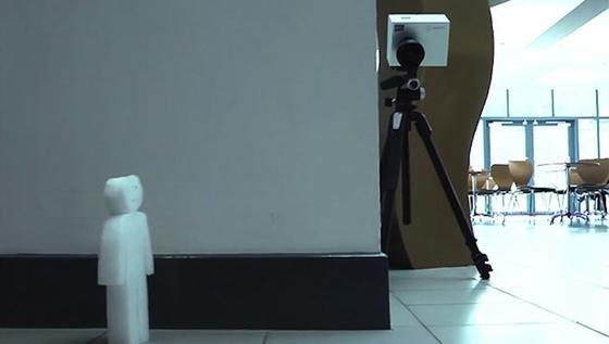 Schottische Forscher haben ein Kamerasystem entwickelt, mit dem das Gerät quasi um die Ecke schauen kann.