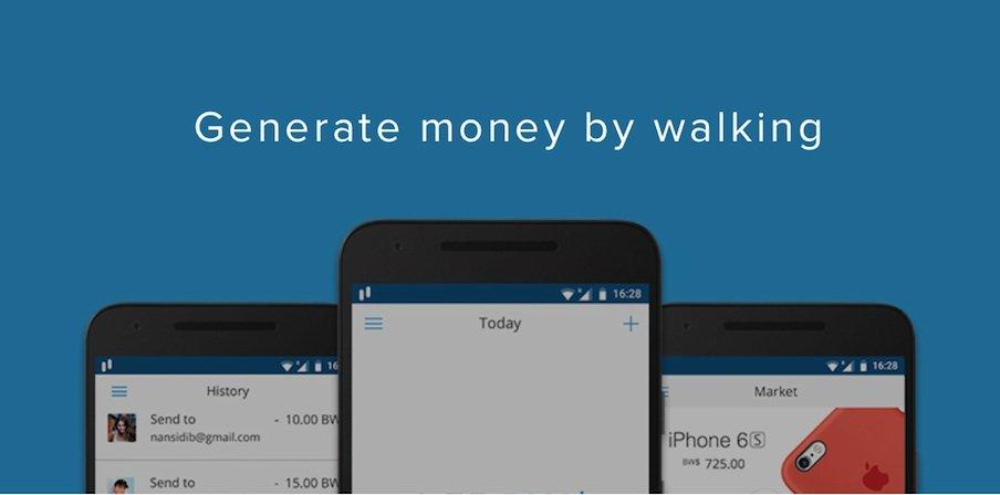 Beim Bitwalking verdient sich der User der Go-App durch reines Gehen digitales Geld.