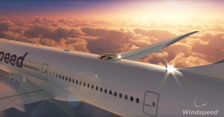 Illustriertes Flugzeug mit Sky Deck: Weder Luftwiderstand noch Gewicht der Maschine sollen sich durch die Installation erhöhen.