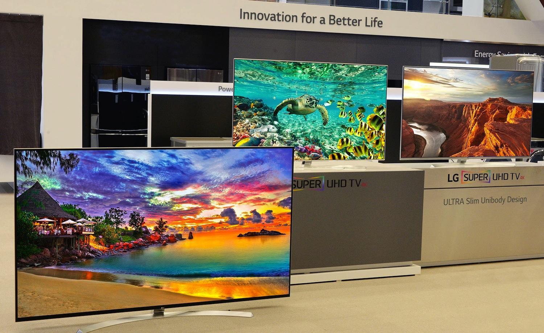 Super-UHD-TVs von LG: Die 4K-Fernseher können 1,07 Milliarden Farben darstellen.