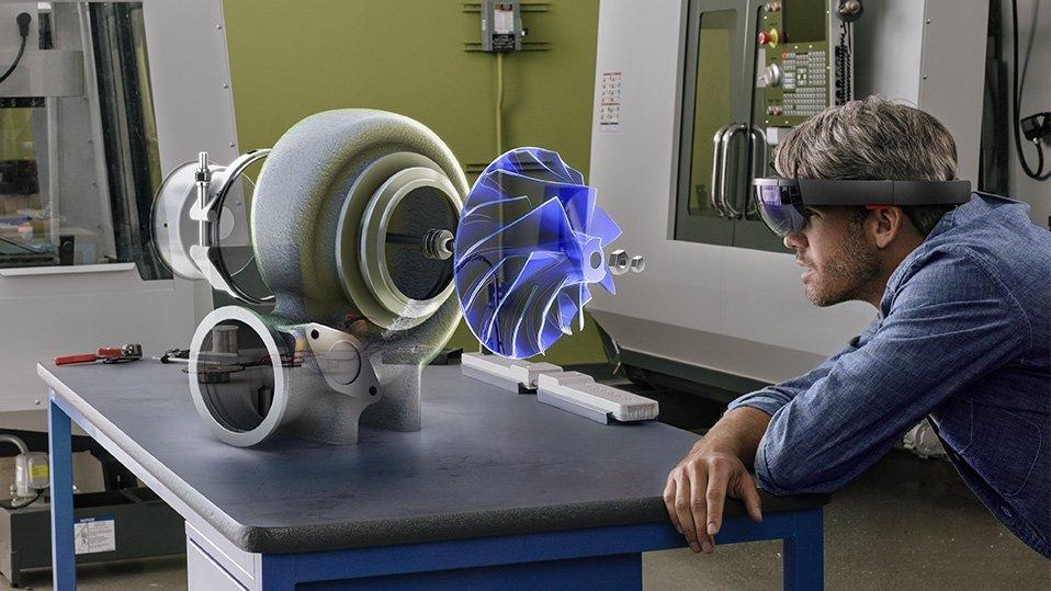 Die Augmented-Reality-Brille von Microsoft, die der KonzernHoloLensnennt.