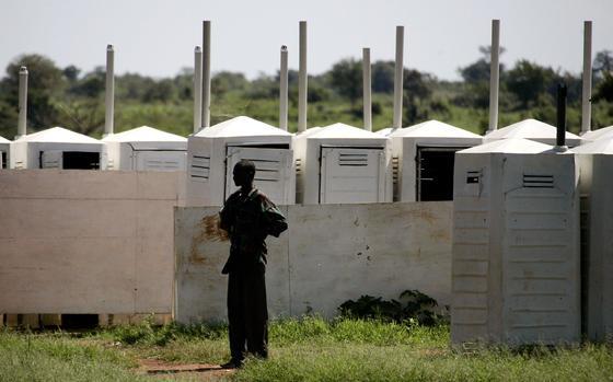 Toilettenhäuschen in einem Flüchtlingslager: Weltweit hat nur jeder dritte Mensch Zugang zu einer ordentlichen Toilette.