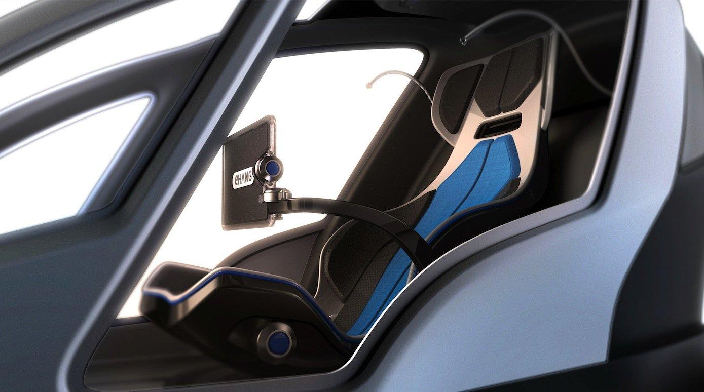 Cockpit des Quadrocopters AAV 184: Gesteuert wird das Fluggerät automatisch per App. Die Kapsel soll sogar über eine Klimaanlage verfügen.