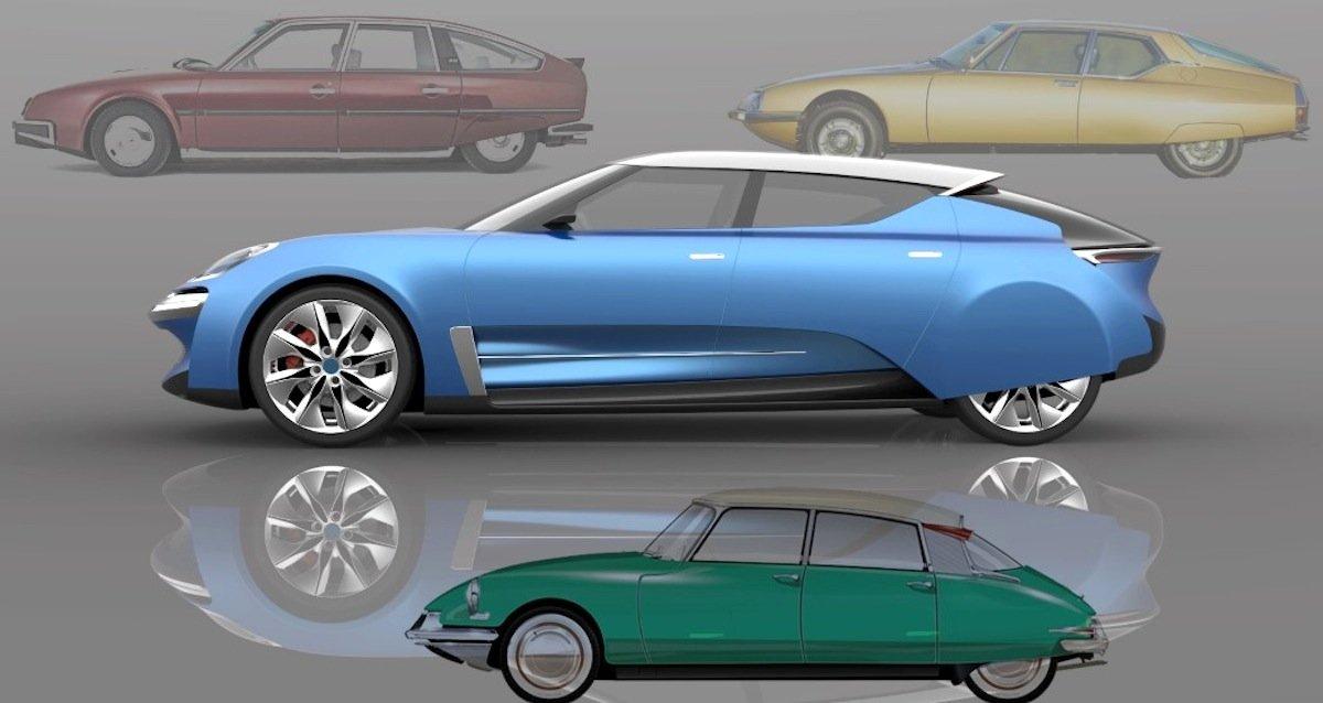 Jean-Louis Bui hat sich für seine Neuauflage der DS auch dieCitroën-Modelle XM und CX zum Vorbild genommen.