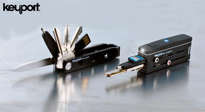 Wenn man den kompakten Schlüsselbund verliert, kann man ihn per Smartphone-App orten.