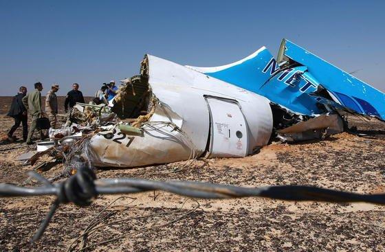 Russische Metrojet-Maschine, die als Folge eines ISIS-Bombenanschlags in Ägypten abstürzte.