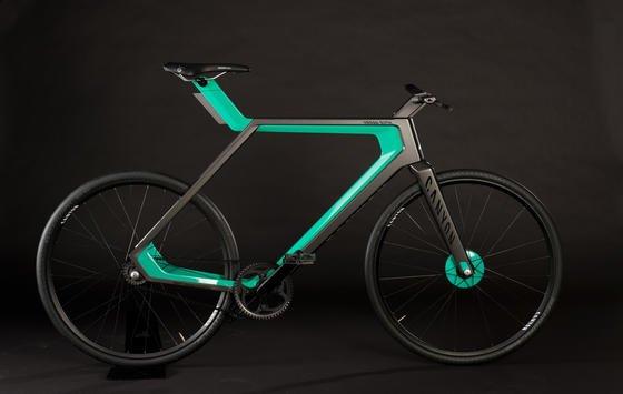Eine Mischung aus Rennrad und Mountainbike: So sieht der Prototyp des E-Bikes Urban Rush aus.