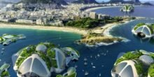 Wie vor Rios Küste schwimmende Wohninseln aus Plastikmüll entstehen