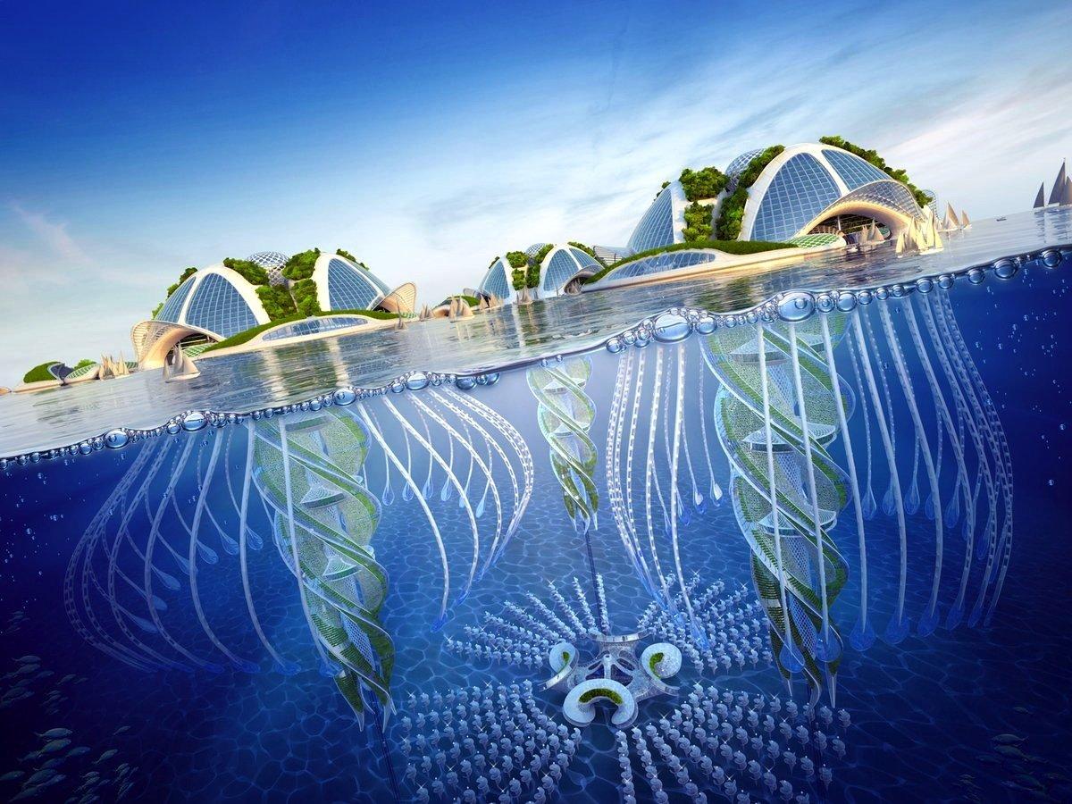 Die Inseln haben Nesseln und reichen wie ein Trichter tief ins Meer. Dadurch sollen starken Schwankungen verhindert werden.