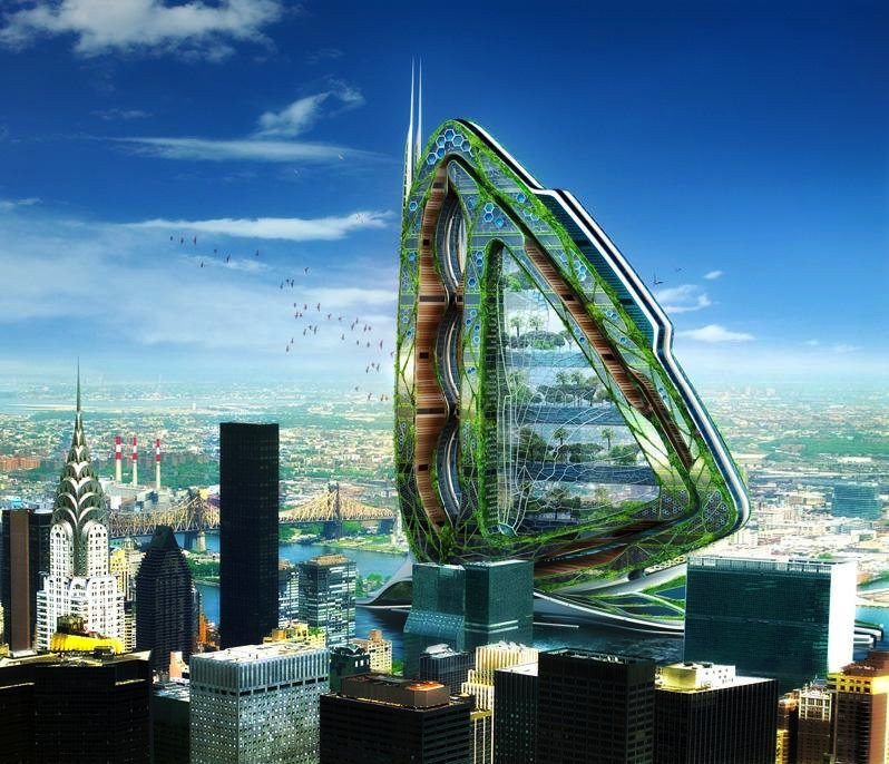 Dragonfly heißt der Entwurf für ein transparentes Hochhaus in New York.