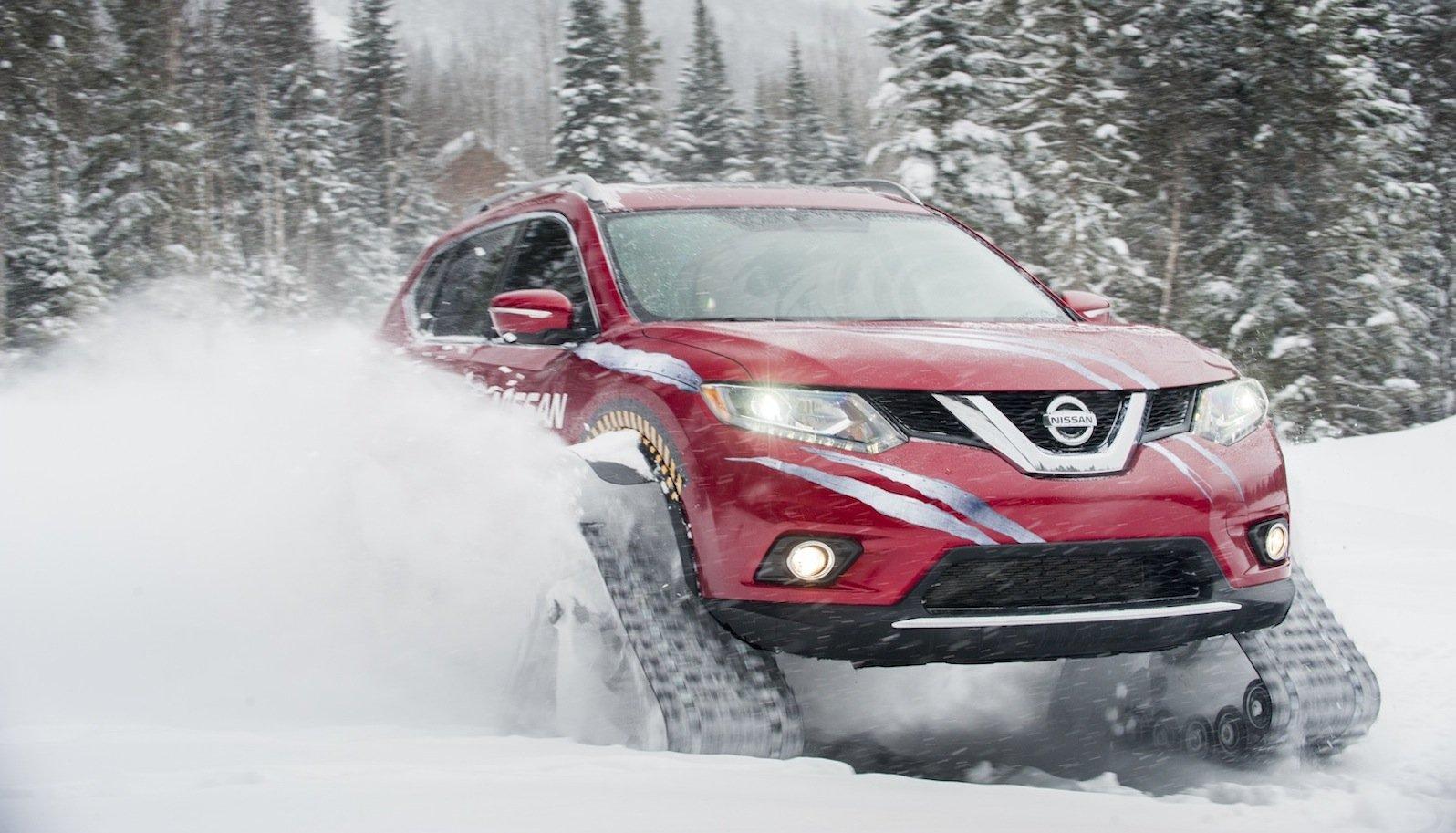 Dank Ketten und Vierradantrieb meistert der Rogue Warrior von NissanSteigungen von bis zu 45 %.