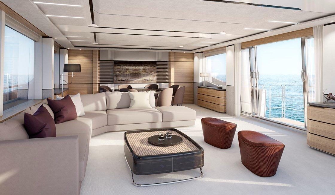 Luxus pur: Der Wohnbereich der Princess 30 M.