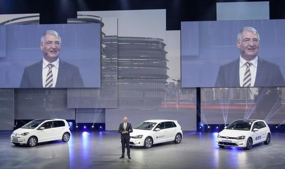 Der frühere VW-Konzernvorstand Heinz-Jakob Neußer auf derAutoChina Shanghai 2015: Neußer soll seit 2011 von den Manipulationen von Dieselmodellen gewusst haben. Das hat ein Kronzeuge aus der Motorenentwicklung ausgesagt.