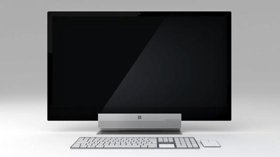 Sieht fast aus wie ein iMac von Apple: Der DesignerAzis BelKharmoudi hat einen Desktop-Computer auf Basis des Windows-Rechners Surface entworfen, der besser aussehen soll als gewöhnliche Windows-Rechner.