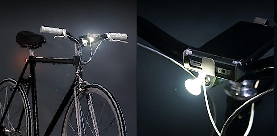Smart Luxx ist eine revolutionäre Fahrradlampe. Der Clou: Ihr Herzstück ist das Smartphone.